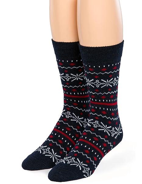 Warrior Alpaca Socks - Fair Isle Crew Alpaca Wool Socks for Men or Women