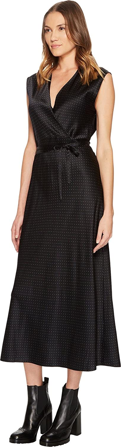 e4e4eef9391e4 Vince Women's Vintage Polka Dot Crossover Slip Dress Black/Frog Large:  Amazon.ca: Clothing & Accessories