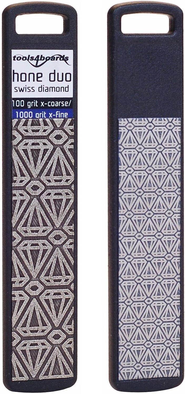 Tools4Boards Hone Duo Diamond Stone 100 Grit X-Coarse One Side// 1500 Grit Fine Opposite Side