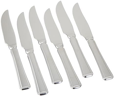 Amefa Harley Juego de 6 cuchillos chuleteros: Amazon.es: Hogar