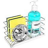 Sponge Holder for Sink,Stainless Steel Kitchen Sink Organizer Kitchen Soap Dispenser Caddy Dish Soap Holder ,Sink Tray Draine