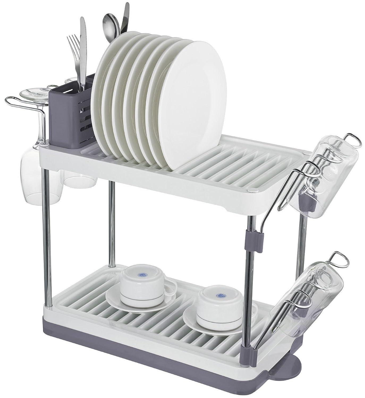 Amazon.com Surpahs 2-Tier Compact Dish Drying Rack (Gray) Kitchen \u0026 Dining  sc 1 st  Amazon.com & Amazon.com: Surpahs 2-Tier Compact Dish Drying Rack (Gray ...