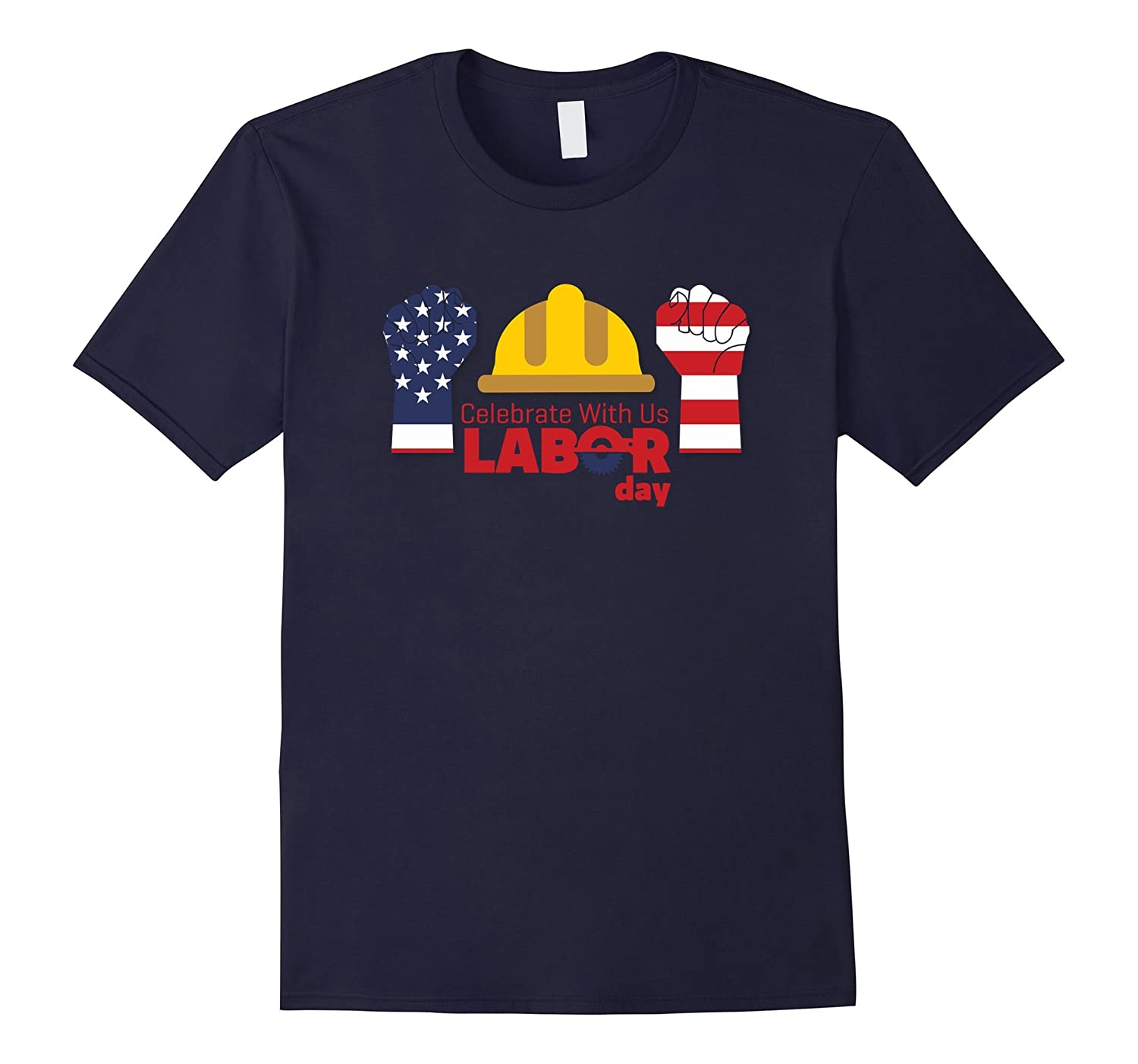 Celebrate With Us Labor Day America Flag T-Shirt-BN