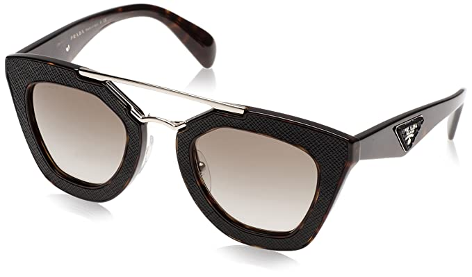 Prada Damen Sonnenbrille 0PR14SS 2AU4M1, Braun (Havana/Green), 49
