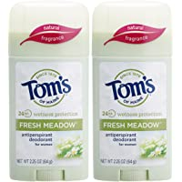 Tom's of Maine 2-Pack of 2.25 Ounce Women's Antiperspirant Deodorant Stick
