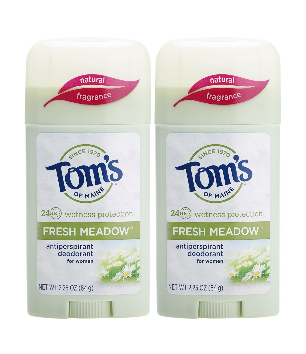 Tom's of Maine Women's Antiperspirant Deodorant Stick, Deodorant for Women, Antiperspirant for Women, Fresh Meadow, 2.25 Ounce, 2-Pack : Beauty