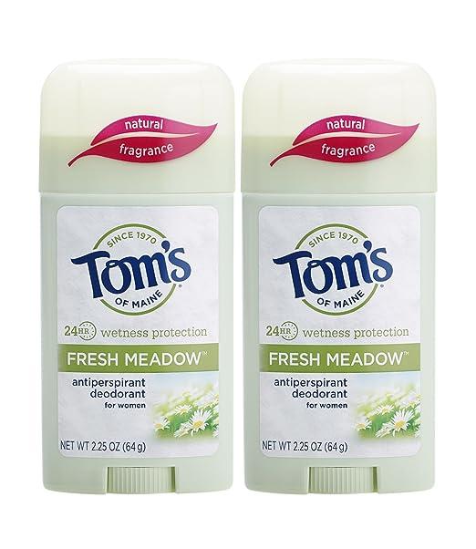 Tom's of Maine Women's Antiperspirant Deodorant Stick, Fresh Meadow, 2 Count Best Natural Deodorant