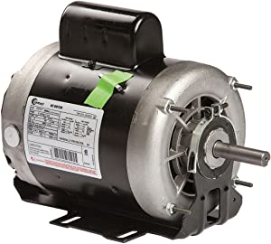 Century 1 HP Belt Drive Motor, Capacitor-Start, 1725 Nameplate RPM, 115/208-230 Voltage, Frame 56Z - C523V1