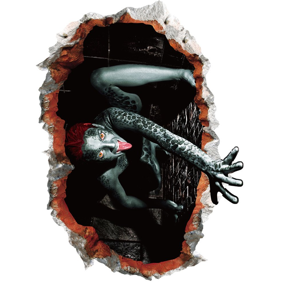 Halloween Decoracion Terror, Zolimx 2018 Nuevo Feliz Halloween Casa Hogar Sala de Pared Etiqueta Mural Extraíble Decoración Calcomanía (#1): Amazon.es: ...