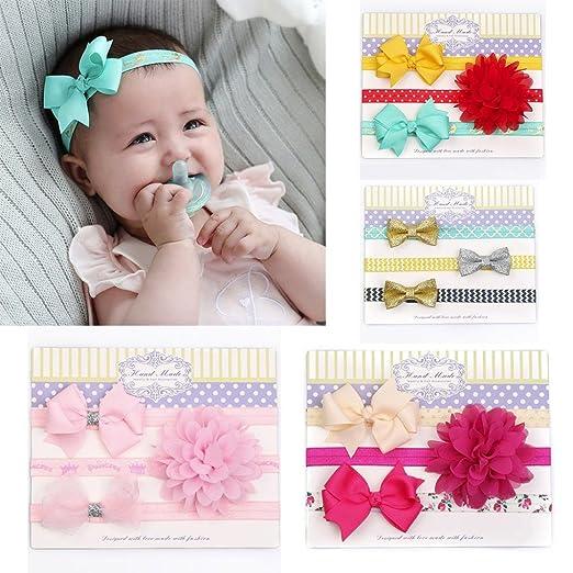 c70fc502ef0 Baby Girls Elastic Cute Hairband Head Wear Grosgrain Ribbon Hair Bows  Accessories for Newborn