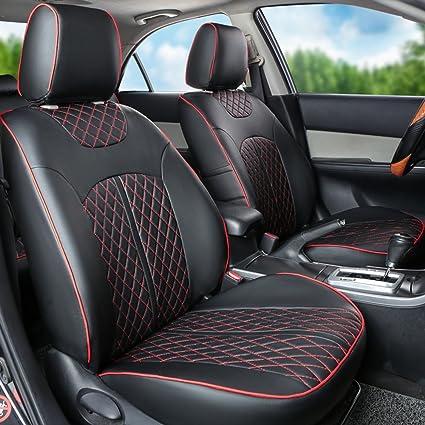 AutoDecorun Custom Fit PU Leather Seat Covers For Jeep Wrangler JK  2007 2017 2 Doors