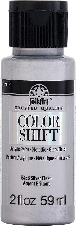 FolkArt Color Shift Acrylic Craft Paint, 2 oz, Silver