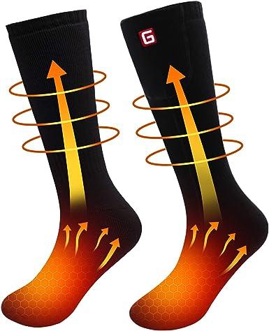 Electric Battery Heated Socks Feet Thermal Winter Warmer Heater Foot Shoe Boot H