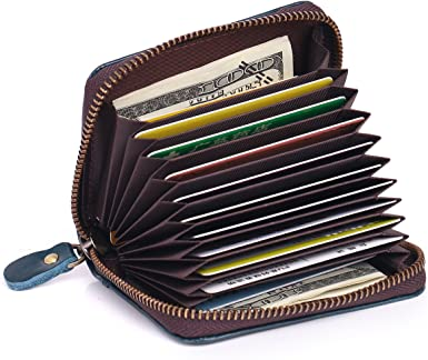 APHISON Womens RFID Blocking Card Case Cash Holder Leather Travel Wallet Black