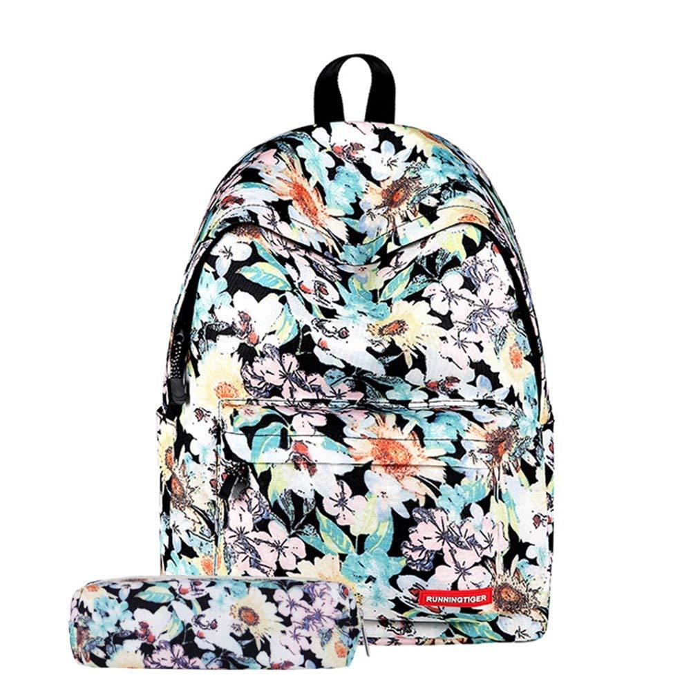 Nvfshreu Daypacks Unisex Rucksack Für Jugendliche Schule Set 2Pcs Bleistift Tasche Einfacher Stil Casual Daypacks Schulrucksack 3D Druck Reisetasche (Farbe   lila, Größe   30x17x40cm) B07Q5X7RYS Daypacks Am wirtschaftlichsten