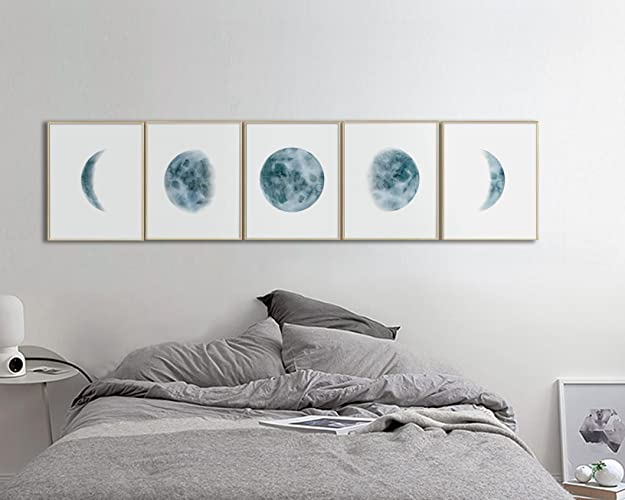 amazon com moon phases wall art print bedroom wall art bedroom rh amazon com wall decor for bedroom amazon wall decor for bedroom above bed
