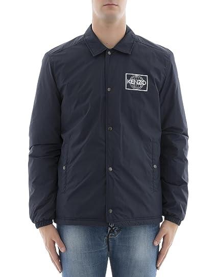 9a15147ff2d Kenzo Men's F7650U3641NH76 Blue Polyester Shirt: Amazon.co.uk: Clothing