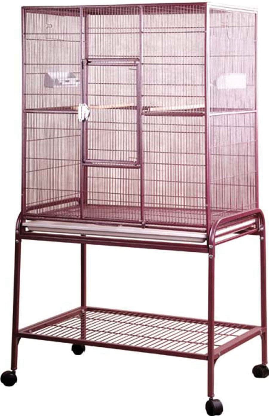 A E Burgundy Large Flight Cage
