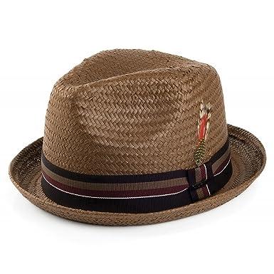 42aa4f64 Amazon.com: Jaxon Tribeca Toyo Straw Fedora Hat: Clothing