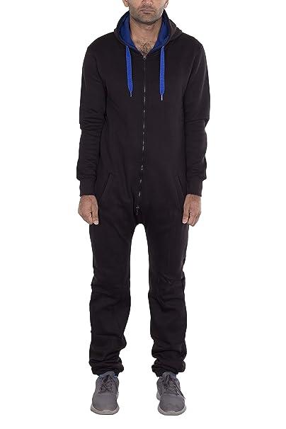 8357f7d8efb1 NOROZE Mens Unisex Contrast String Fleece Onesie Jumpsuit  Amazon.co.uk   Clothing