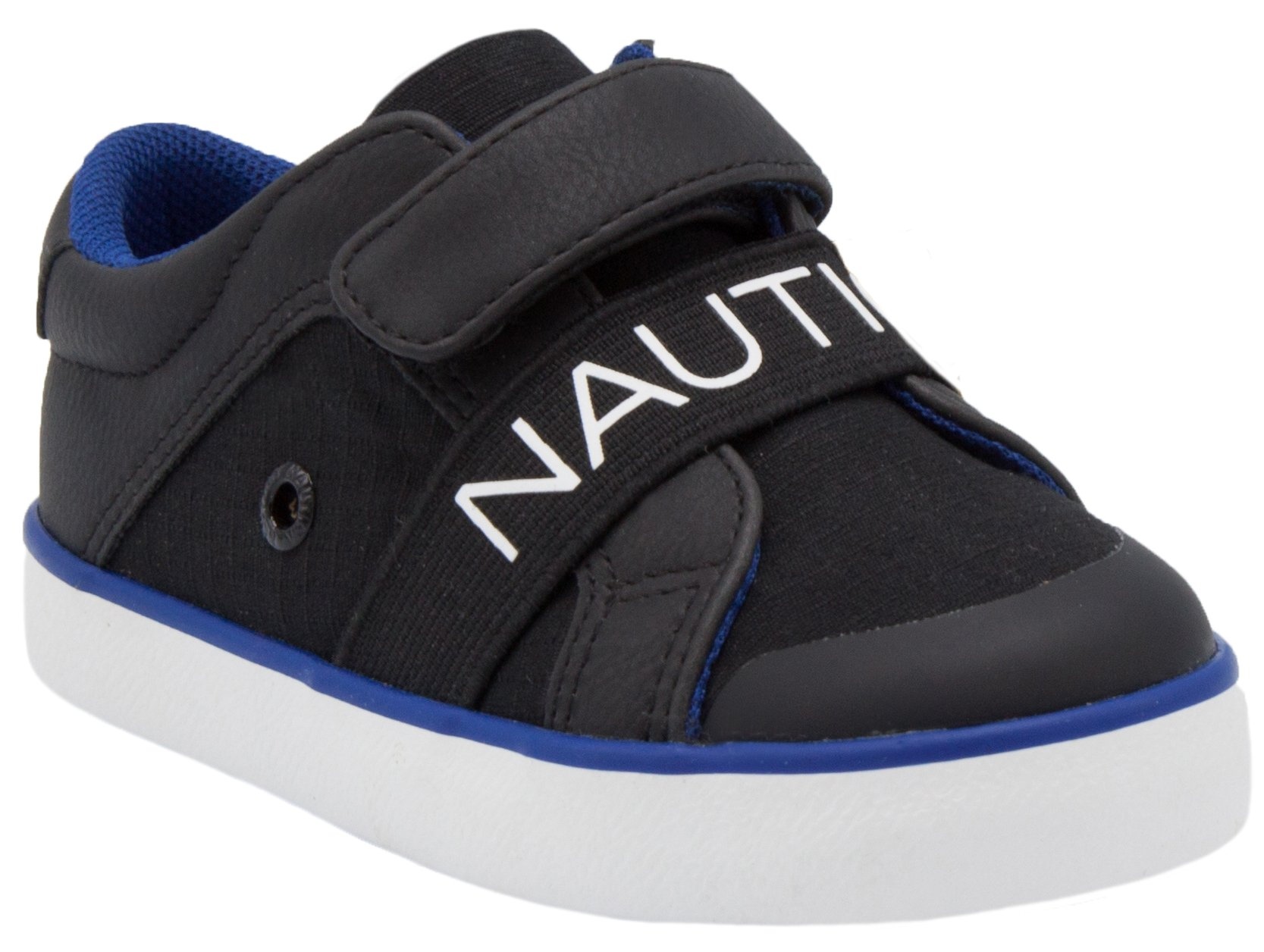 Nautica Outhaul Toddler Sneakers Velcro Athletic Fashion Shoes-Black-9