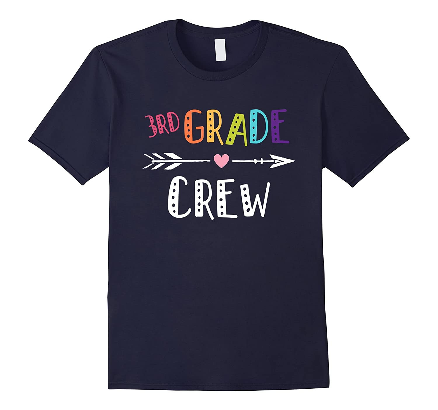 3rd Grade Crew Teacher T-Shirt 1st Day of School-FL