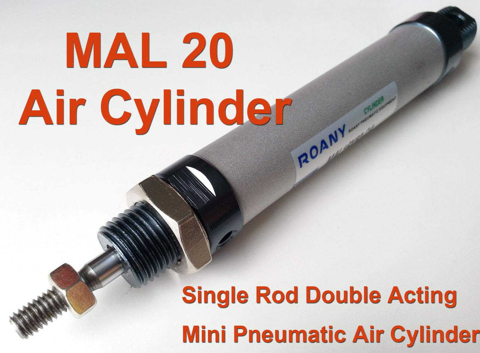 MAL 20mm x 400mm Single Rod Double Acting Mini Pneumatic Air Cylinder 20-400