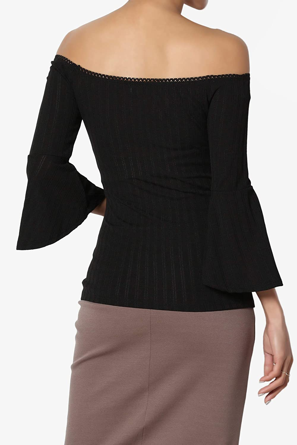 5414a8bbd8e08 TheMogan Women s Off The Shoulder Stretch Cotton Crop Top Short Sleeve  Waist Tee at Amazon Women s Clothing store
