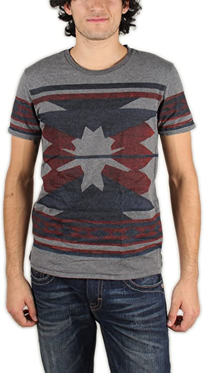 Scotch & Soda – Camiseta para Hombre, teñido Camiseta de Intarsia de Azteca Impresión Imprimir Azteca: Amazon.es: Ropa y accesorios