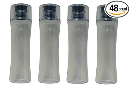 7dba8250ca00 Amazon.com : Impex 48 Pack Slim Line Clear Water Bottle with ...
