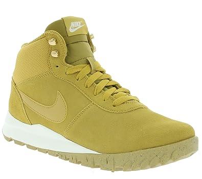 66217dc8f7b173 Nike Hoodland Suede Schuhe Herren Echtleder Boots High Top Sneaker Beige  Winterboots