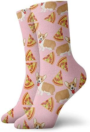 yting Niños Niñas Locos Divertidos Welsh Corgi Pizza Calcetines Vintage Calcetines Lindos de Novedad