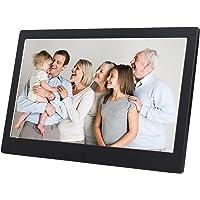 Discoball 10 inch Digital Photo Frame [ HD 720p LED Display | 16:9 Widescreen ] (Metal Bezel - Black)