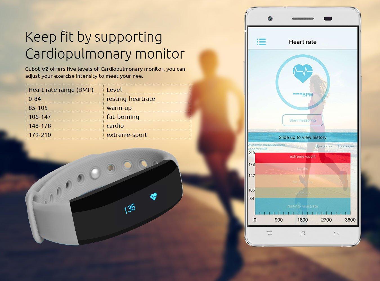 Cubot V2 - Inteligente Smartwatch Pulsera Deportiva para Móvil ...