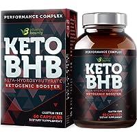 Keto BHB Exogenous Ketone Supplement - Beta Hydroxybutyrate Ketone Salt Pills - 60 Capsules