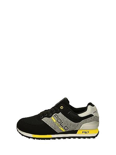 Ralph Lauren Basket Slaton Pony Sneakers Athletic - XY07C-XW0M5 - Age -  Adulte, e5c757b30b4