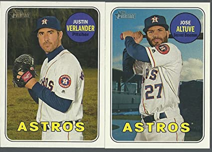 sports shoes 2a5d9 000e9 2018 TOPPS Heritage HOUSTON ASTROS Base team set 25 Cards ...