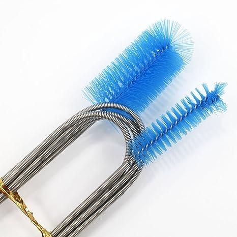 Cepillo doble flexible para limpiar la manguera del acuario KaLaiXing 155 ...