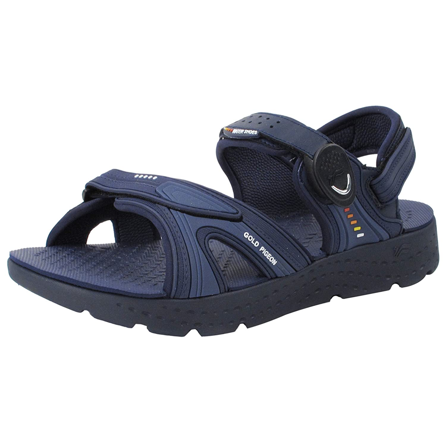 Gold Pigeon Shoes EVA Anti-Fatique Light Weight Sandals for Men & Women B07B4J965V EU41: Men 8.5/9 & Women 9/9.5|Snap Lock Sandal: 8693 Navy