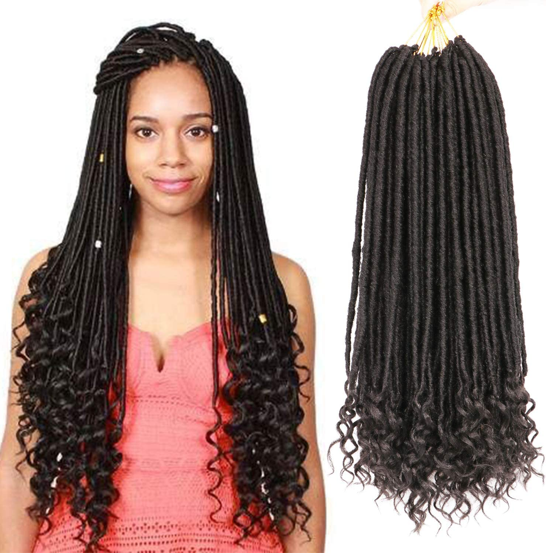7packs Goddess Faux Locs Crochet Hair With Curly End 20inch Goddess Locs Crochet Braids Crochet Twist Braiding Hair Synthetic Hair Extensions 1b Amazon Co Uk Beauty