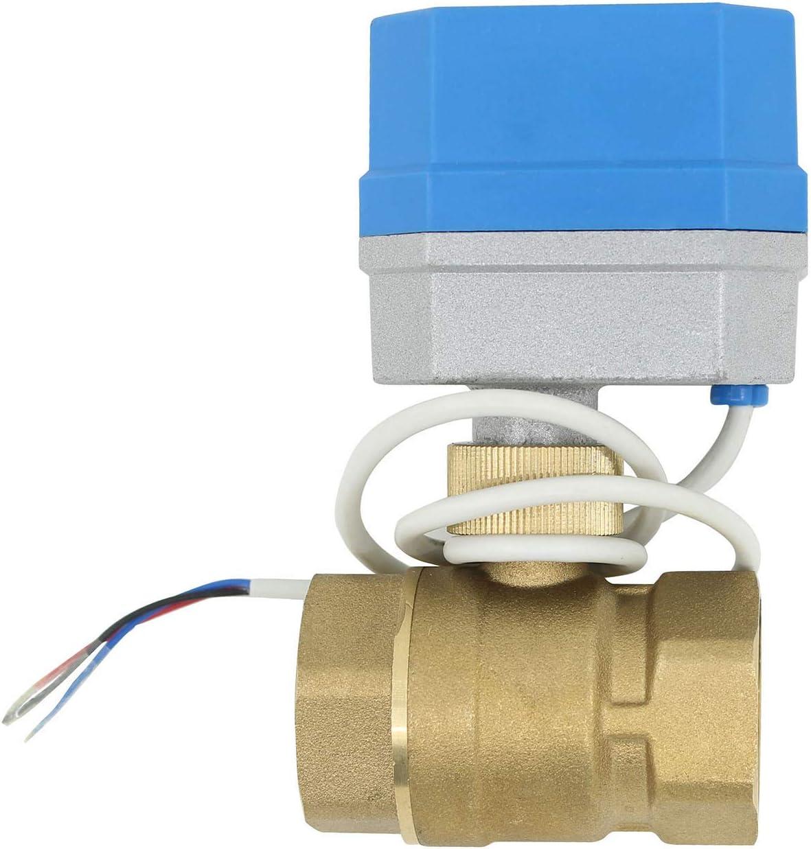 12v - 2 tipos de conexion - valvula esfera motorizada normalmente cerrado valvula 2 vias motorizada electrovalvula 12v 1/2 3/4 1 1-1/4 pulgada (1 pulgada DN25)