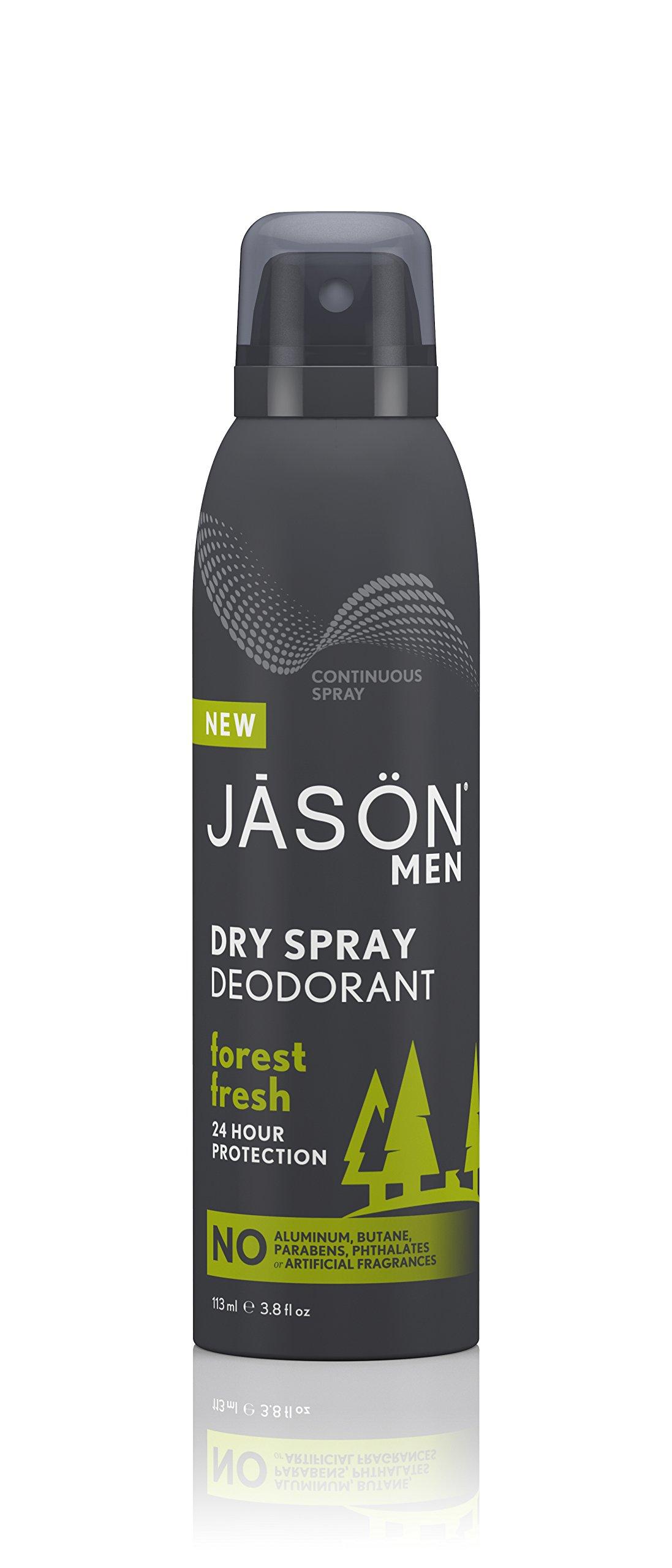 Jason Men's Dry Spray Deodorant, Forest Fresh, 3.8 Fluid Ounce