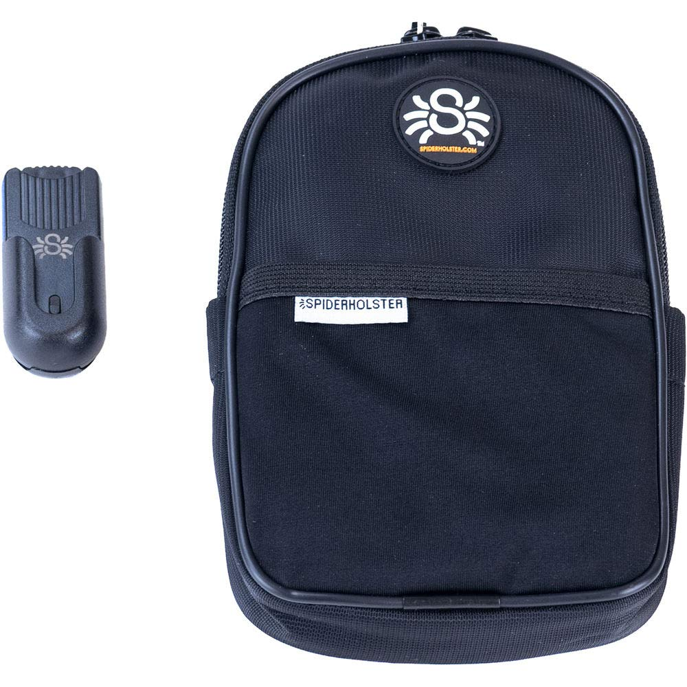 SpiderHolster Spider Monkey Utility Pouch, Includes Base Clip, Black