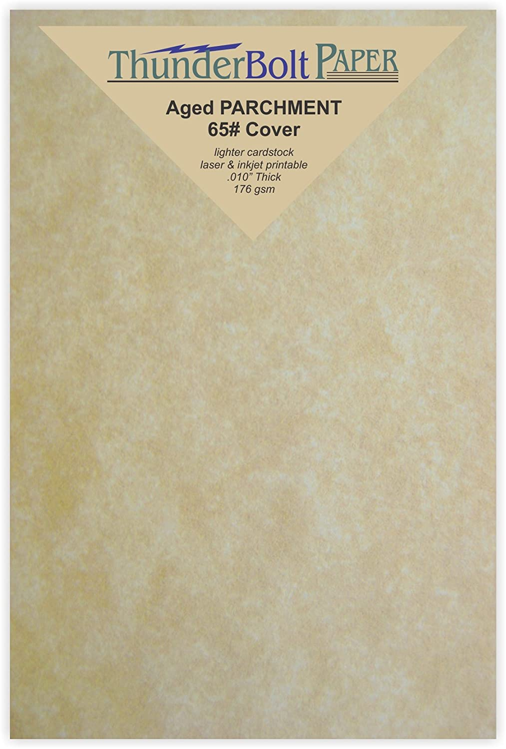 200 Old Age Parchment 65lb Cover Paper Sheets 4 X 6 Inches Cardstock Weight Colored Sheets 4 X 6 (4X6 Inches) Photo|Card|Frame Size - Printable Parchment Semblance by the Pulp Process TBP 5219968
