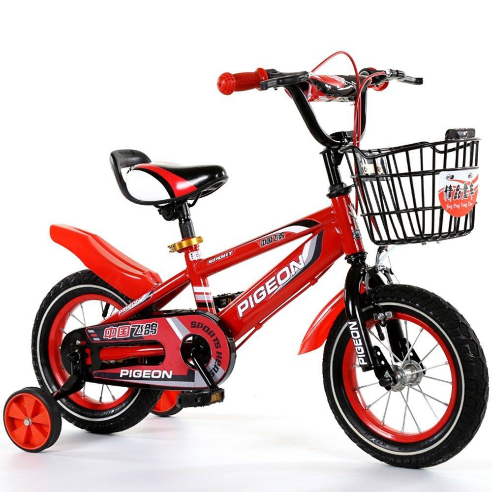 YANGFEI 子ども用自転車 男の子、女の子用キッドバイク、12インチ、14インチ、16インチ、18インチ、85%組み立て、5色の子供用ギフト 212歳 B07DWSQ3SN 14 inch|赤 赤 14 inch