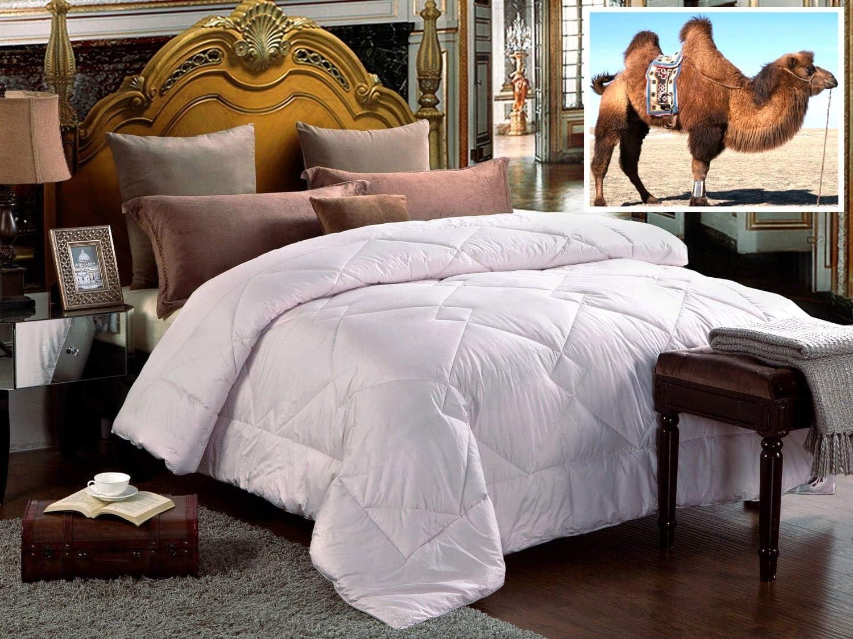 100% Natural Camel Wool Comforter. Woolmark & Oeko Certified. (Queen)