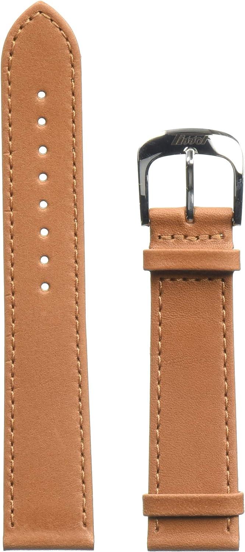 Tissot Leather Calfskin Brown Watch Strap, 20mm Width (Model: T600042558)