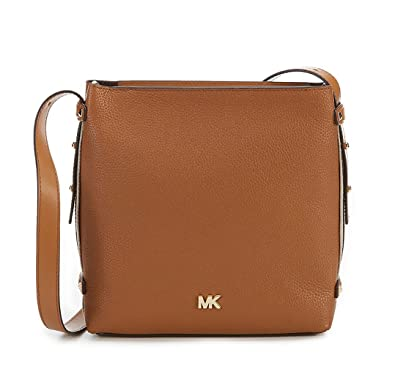 b7e5547c7256 MICHAEL Michael Kors Griffin N/S Medium Messenger (Acorn): Amazon.co ...