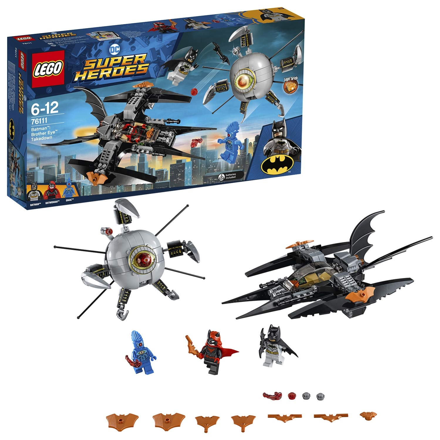 Amazon.com: LEGO 76111 Brother Eye Takedown Super Heroes ...