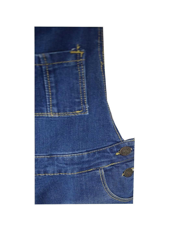 06b11653951 Kids Girls Boys New DENIM Childrens Stretch Dark Wash Dungarees Playsuit  Jumpsuit Long UK Jeans Bib Overalls Pinafore Cotton Age 7-13 Yr